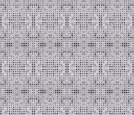 Dancing Dots and Spots of Grey on Mauve Mist fabric by rhondadesigns on Spoonflower - custom fabric