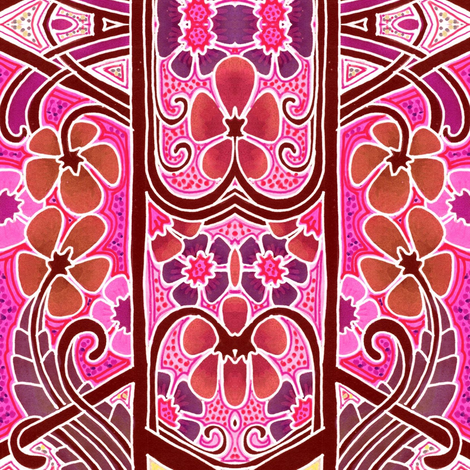 Screaming Pink Moderne fabric by edsel2084 on Spoonflower - custom fabric
