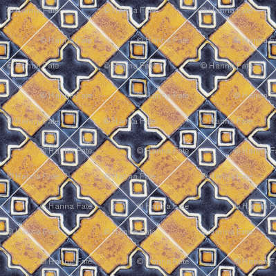 Traditionan glazed tiles