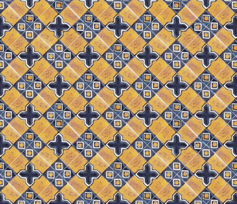 Traditionan glazed tiles fabric by unseen_gallery_fabrics on Spoonflower - custom fabric