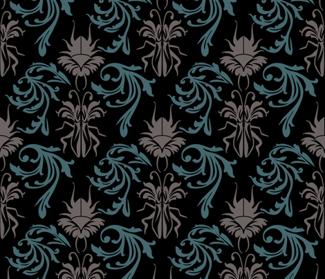Buggy Damask fabric by joan_mcguire on Spoonflower - custom fabric