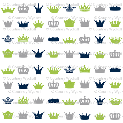 Lime Navy Grey Crowns