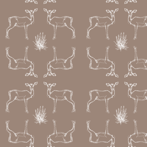 Safari Brown fabric by fromtheartstudio on Spoonflower - custom fabric