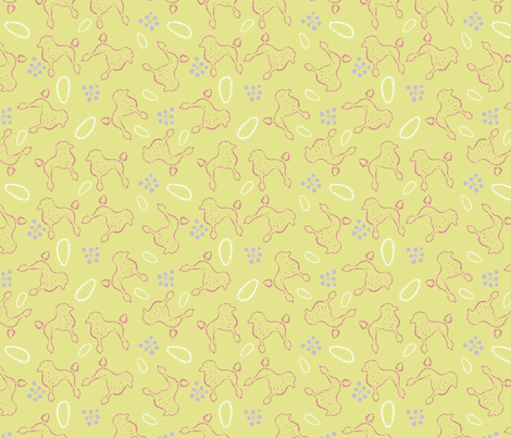 Poodle Ooo fabric by slumbermonkey on Spoonflower - custom fabric