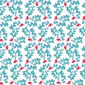 Iris  watercolor floral geometry pattern