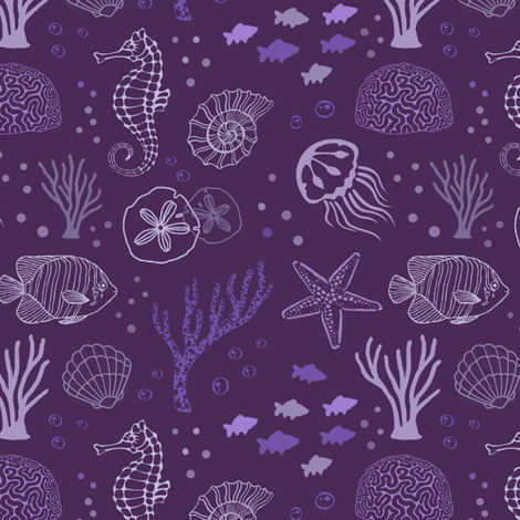 The Purple Deep fabric by thinlinetextiles on Spoonflower - custom fabric