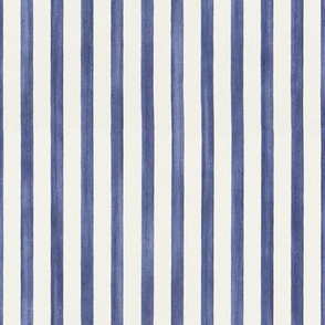 Faded Nautical Stripes // Blue // Vertical