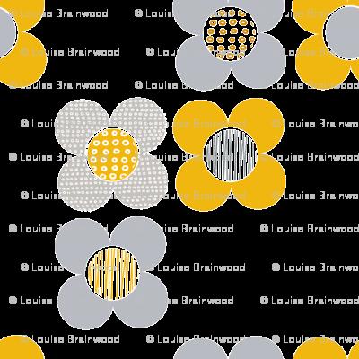 Mod Flower - Yellow
