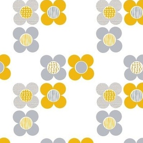 Mod Flower - Yellow