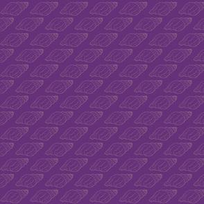 seashell on purple