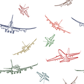 Colorful Plane Sketches