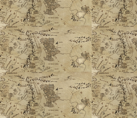 Middle Earth: The Hobbit fabric by minicoopergirl93 on Spoonflower - custom fabric