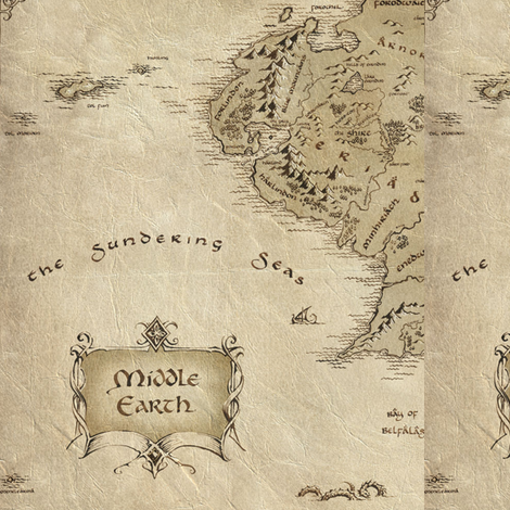 Middle Earth: The Sundering Sea fabric by minicoopergirl93 on Spoonflower - custom fabric