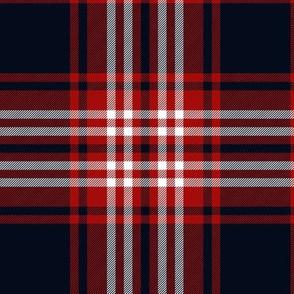 Tweedside red district tartan, bright