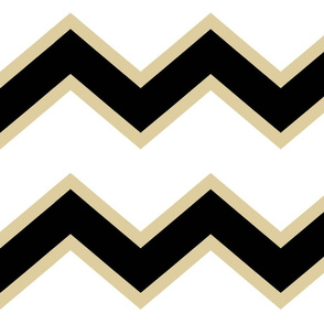 Black Gold Chevron Large
