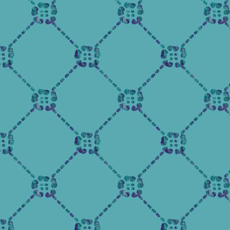 NEW-flowery-diamondy-sRGB-3inch-150-mauves-dkforestgreen-batik-on-tranquilwaters-184-49-69 fabric by mina on Spoonflower - custom fabric