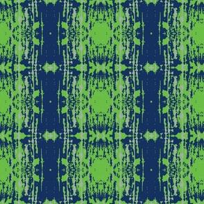 Stamp Blue Green