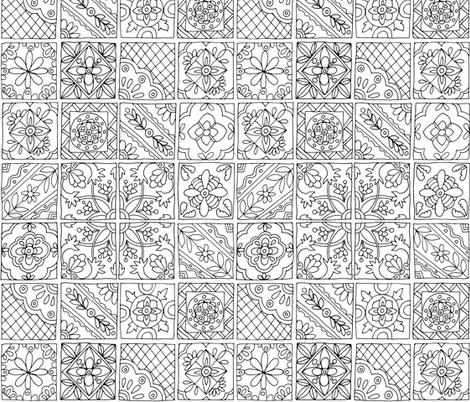 Talavera Tiles fabric by snowflower on Spoonflower - custom fabric
