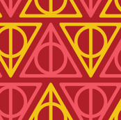Pastel Potter -   Deathly Hallows Red Yellow