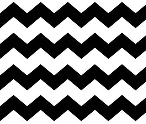 Black Chevron Large fabric by decamp_studios on Spoonflower - custom fabric