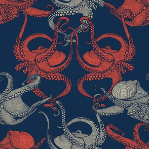 Cephalopod - Octopi smaller - Navy
