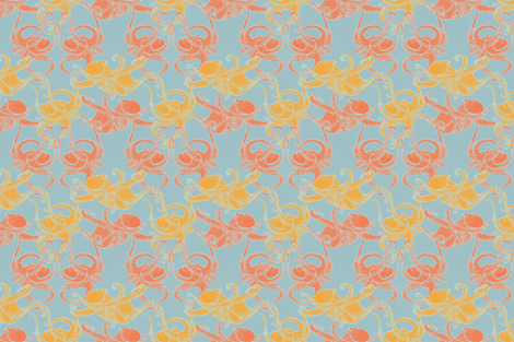 Cephalopod - Octopi smaller - Tropical fabric by docious_designs_by_patricia_braune on Spoonflower - custom fabric