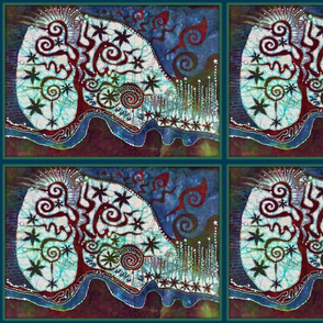 Abstract Batik Tree