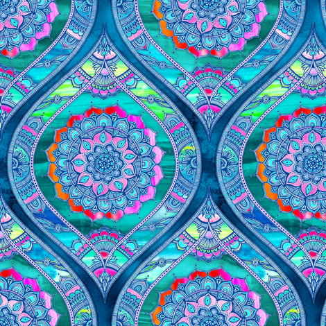 Radiant Boho Color Play - small ogees fabric by micklyn on Spoonflower - custom fabric