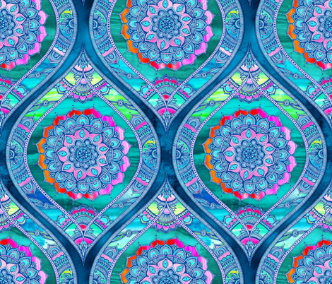 Radiant Boho Color Play - large ogees fabric by micklyn on Spoonflower - custom fabric