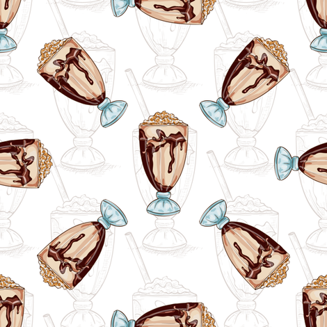 seamless_pattern_color_vanilla_milkshake_scetch_and_color fabric by igor_netkoff on Spoonflower - custom fabric