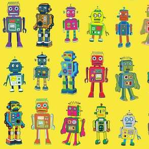 Robot Line Up - Yellow