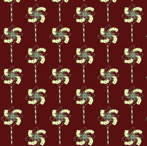 red and yellow beach windmill fabric by littlegreenthread on Spoonflower - custom fabric