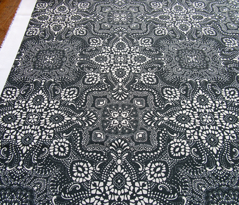 Mosaic Bandana - LARGE - Black & White