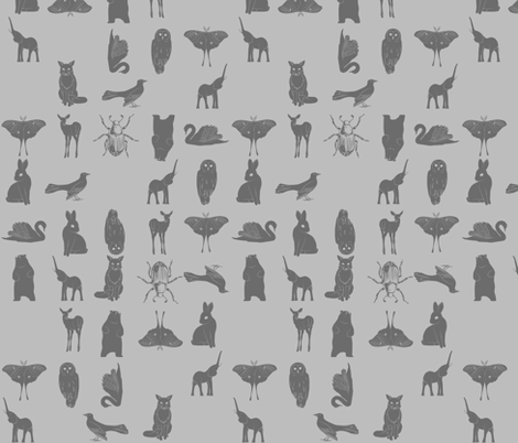 Grid Collective in Grey fabric by eleventy-five on Spoonflower - custom fabric