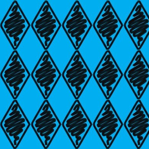 Blue Diamonds Argyle Hand-Sketched