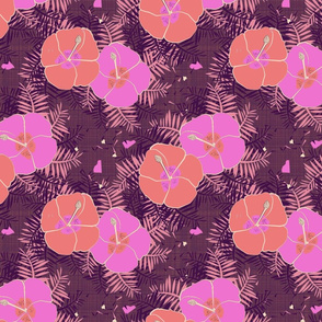 hawaaiian Limited Color Hibiscus Print