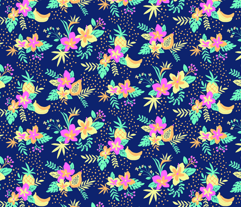 LimitedPaletteHawaiianShirt-SmallScale fabric by sweeteleanor on Spoonflower - custom fabric