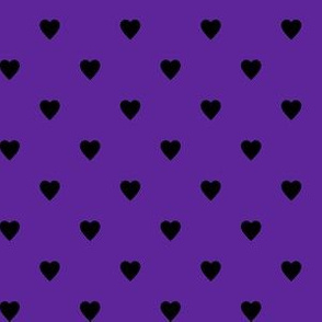 Black Hearts on Purple