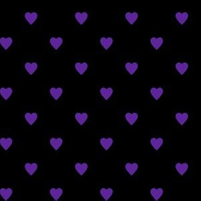 Purple Hearts on Black