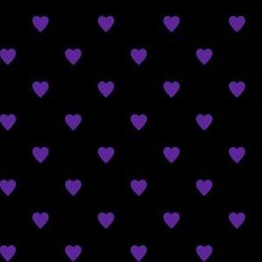 Purple Hearts on Black