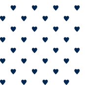 Navy Blue Hearts on White