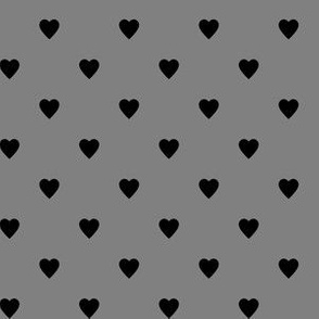 Black Hearts on Medium Gray
