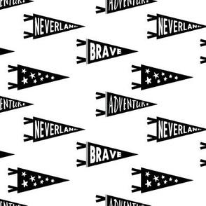 pennant flags  // monochrome