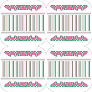 Pink Watermelon Trivets
