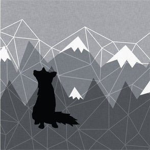 6 Loveys - Snow Capped Adventure - Wolf - Grey Linens