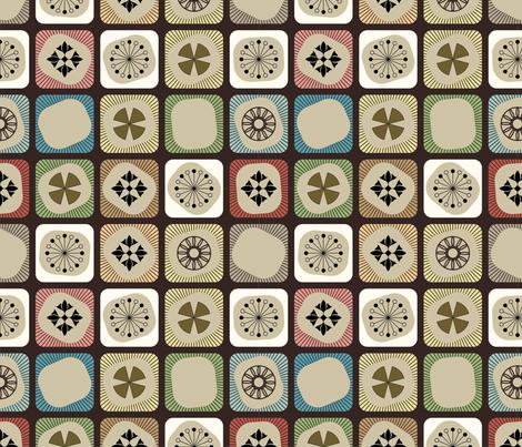 Chocolate Dereham fabric by midcenturystyles on Spoonflower - custom fabric