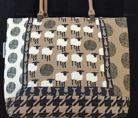 Mocha Latte Khaki &  Black Houndstooth_Miss Chiff Designs