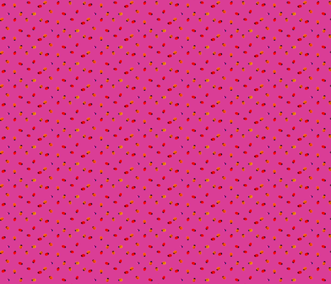 ladybug pink small Braille polka dot fabric by veerapfaffli on Spoonflower - custom fabric