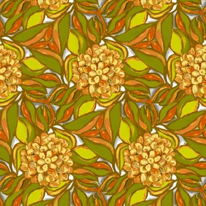 Peach and Yellow Dahlias
