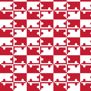 Maryland Flag Red/White